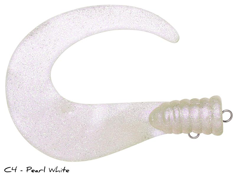 Svartzonker Big Tail Junior - 2-p - C4 - Pearl White