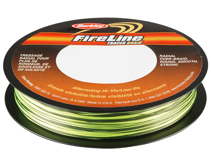 Fireline Tracer Braid - 110 Meter - Yellow/Black - 0,28 mm