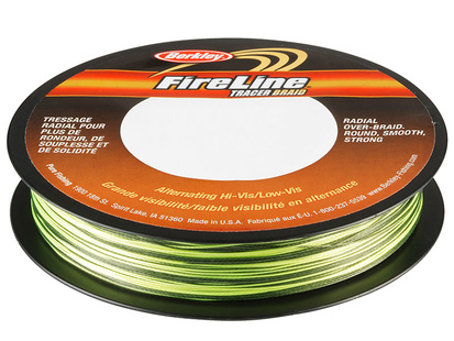 Fireline Tracer Braid - 110 Meter - Yellow/Black - 0,35 mm