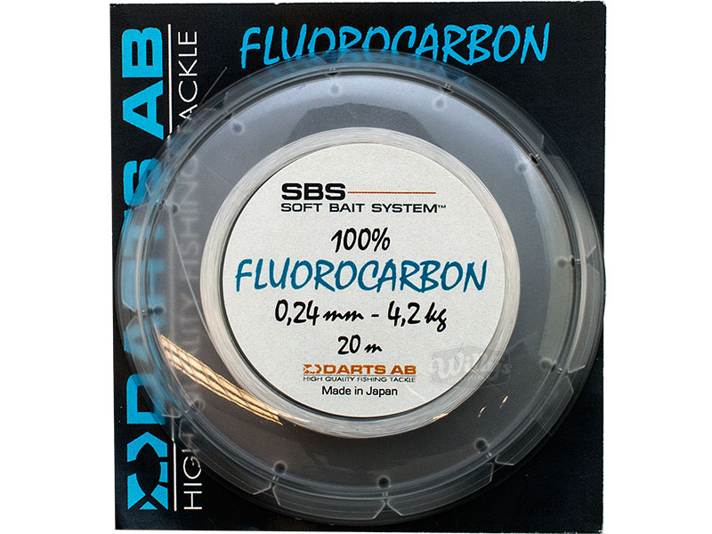 Darts Fluorocarbon - 20 meter - 0,24mm