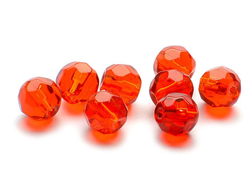 Darts Glass Beads Faceted - Red