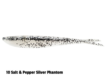 Lunker City Fin-S - 14,5 cm - 8-p - 010 Salt & Pepper Silver Phantom