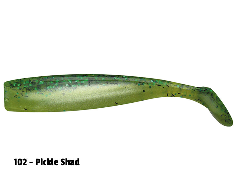 Lunker City Shaker Shad - 8st - 11,5cm - Pickle Shad