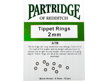 Partridge Tippet Rings 2mm - 10-Pack