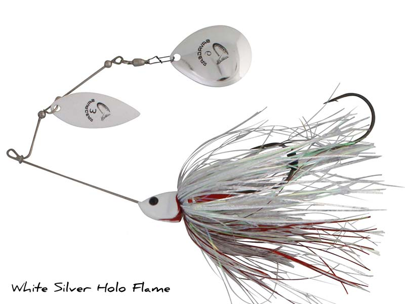 SavageGear Da'Bush Spinnerbait - 42gr - White Silver Holo Flame