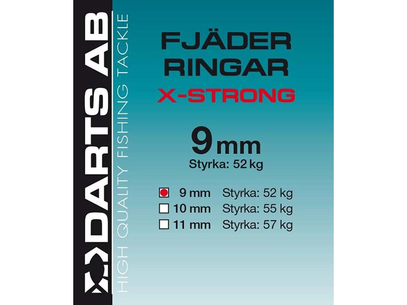 Fjäderringar Darts X-Strong - 7-pack - 11 mm