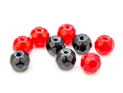 Glass Beads Faceted Mix
