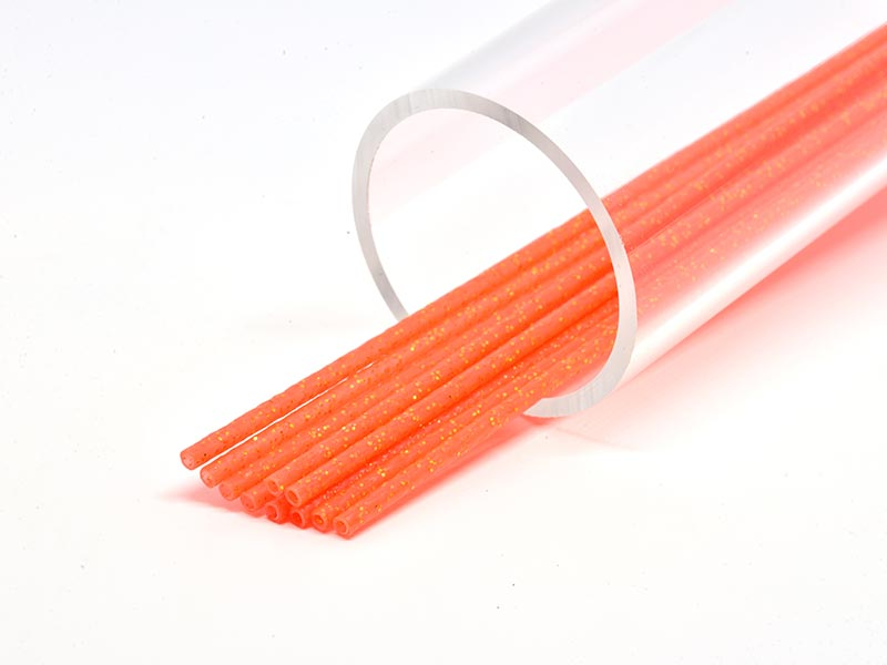 FF Tubslang Soft 3mm - Orange/Orange Glitter