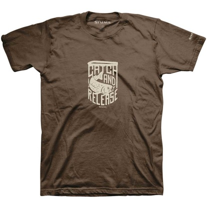 T-Shirt Simms Catch & Release - Brown