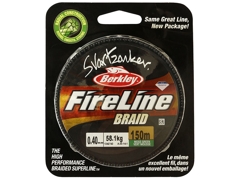 Fireline Svartzonkerbraid - 150 Meter - M. Green - 0,14mm