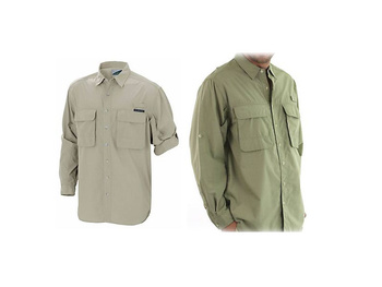 Exofficio Baja Skjorta - Light Khaki - Medium